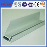 China aluminium extrusion for solar frame with CNC machined holes,cutting wholesale