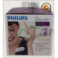 China Offset Printing Electronics Packaging Boxes With Transparant Plastic Handle on sale