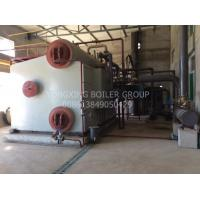 Industrial Gas Fired Steam Boiler 15 Tons D Type Water Tube Boiler For Textile Dyeing