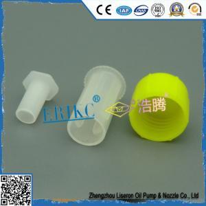 China Delphi injector plastic protection cap E1023001 , common rail car injector flip spouted cap / practical production cap on sale