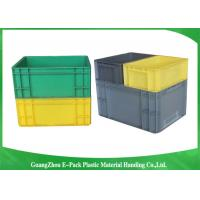 China PP Plastic Logistic Euro Stacking Containers For Food Clothes Auto Medical 21.2L wholesale