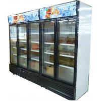 China Bottom Mount Glass Door Freezer , Automatic Defrost Glass PVC Door Frame wholesale