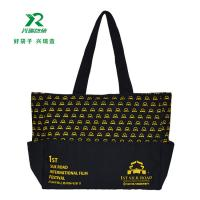 China Manufacture Eco-friendly canvas customized bag fashion shoulder bag 100% canvas spot pattern shopping bag wholesale
