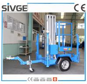 China Trailer Type Mobile Work Platform , 6 Meter Aluminum Self Propelled Manlift wholesale