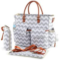China Chic Mummy Backpack Diaper Bag With Changing Pad And Bottle Holder on sale