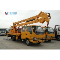 China ISUZU 4X2 Hydraulic Foldable Knuckle Boom Truck For High Altitude Operation wholesale