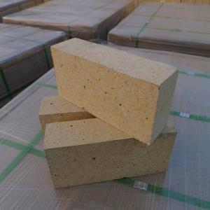 China Customized Size Heat Resistant Bricks , High Alumina Fire Bricks Natural Yellow Color wholesale