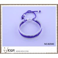China Hot Selling Handmade Bracelet in Silver & Purple BZ040 wholesale