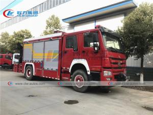 China Howo 6 Wheel 290HP Firefighter Truck With 5T Knuckle Crane wholesale