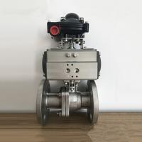 China Lightweight Ball Valve Pneumatic Actuator Flange Connection With Related Accessories wholesale