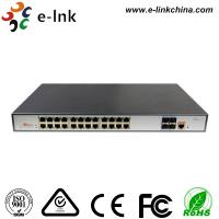 Buy cheap L3 Managed PoE Switch: 24-Port 10 / 100 / 1000Base-T PoE+ with 4 x10G SFP+ ports from wholesalers