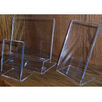 China L Shaped Acrylic Pop Display , Clear Plexiglass Price Tag Holder wholesale