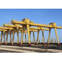China Outside Industrial Double Beam Gantry Crane Rail Mounted With Hook High Strength wholesale