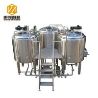 China Steam Heating Beer Brewing Equipment 1000L Stainless Steel Three Vessels wholesale