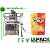 China Puppy Food Bag Rotary Premade Pouch Machine Granules Packing Large Capacity on sale