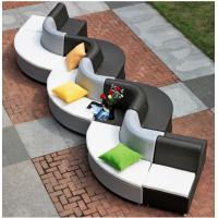 China 10pcs white & black Outdoor furniture rattan poolside curve sofa--9221 wholesale