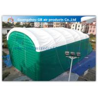 China 0.9mm Pvc Tarpaulin Green Inflatable Air Tent For Family Outdoor Events wholesale