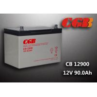 China 12V 90ah Solar System Battery , CB12900 Agm Battery Low Self Discharge wholesale