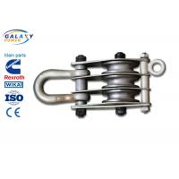 China Alternative Steel Wire Rope Pulley Block , Stringing Iron Rope Pulley Block wholesale