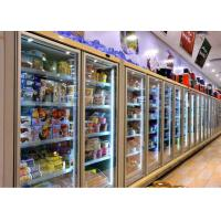 Buy cheap OEM Cold Storage Room Back Up Glass Door Display With Commercial Refrigerators from wholesalers
