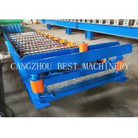 China Metal Roofing Galvanized Aluminum Corrugated Steel Sheet Forming Making Machine 8-12m/min Speed wholesale