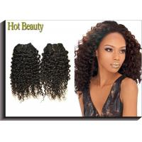 China Tangle Free Human Hair Indian Remi Kinky Curly Hair Extensions Double Weft wholesale
