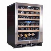 China 45-bottle Dual-zone Compressor Cooling Wine Cooler/Cellar, Built-in or Free-standing wholesale