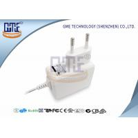 China Medical Grade EU Plug Power Adapter 5v 1a , White Medical Switching Adapter wholesale