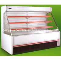 China Stainless Steel Red Multideck Open Chiller 4 Layers 3000mm For Shop wholesale