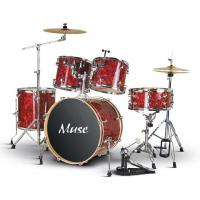 Buy cheap Celluloid 5 Piece Golden Acoustic Drum Set For Beginners / Professinals from wholesalers