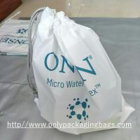 China Electronic Product White Drawstring Plastic Bags Scrubbing String Bag wholesale