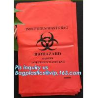China Yellow infectious medical waste disposal plastic bag Biohazard garbage bags, Yellow Waste Bag Disposable Bags For Medica wholesale