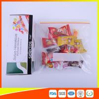 Quality Durable Plastic Ziplock Snack Bags For Candy / Biscuits Storage Food Grade for sale