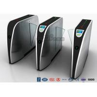 Quality Standard Electric Access Control Turnstile Entry Systems Flap Barrier Gate SS High Speed for sale