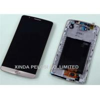 5.5 Inch Original LG G3 Cell Phone LCD Screens , White / Black Mobile LCD Display