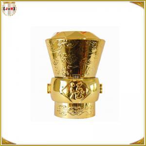 China Engraved Logo Fashion Perfume Bottle Tops Zamac With Shinny Color wholesale