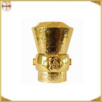 Buy cheap Engraved Logo Fashion Perfume Bottle Tops Zamac With Shinny Color from wholesalers
