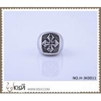 Quality 2012 hot selling 9 #, 21.1g 316l stainless steel cross ring H-JK0011 for sale