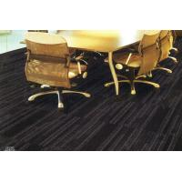 China Meeting Room And Office Floor Carpet Tiles Black With 100% Nylon 50*50cm on sale