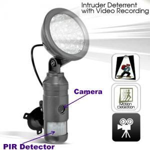 China Flood Light IR Night Vision Human Body PIR DVR Camera Intruder Deterrent W/ Motion Detect wholesale