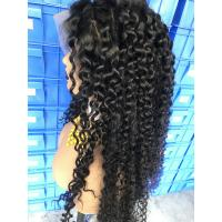 China Tangle Free Deep Wave 300% Pre - Plucked Lace Front Wig wholesale