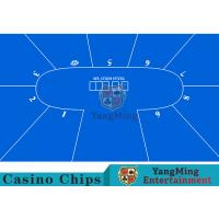 China Flexible Three Card Roulette Table Layout With Velvet Suede Fabric Surface wholesale