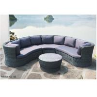 China 4 piece -Half round rattan outdoor furniture sofa with coffee table egg shape sofa -YS5725 wholesale