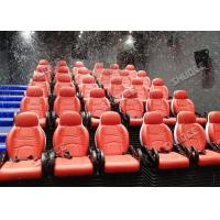 China Incredible Bubble Machine 5D Theater System Deeply Immersion Luxury Red Motion Seats wholesale