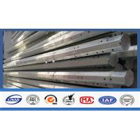 China Outdoor Electrical Power Pole , Transmission Steel Utility Power Poles wholesale
