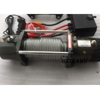 China 12v Truck Heavy Duty Electric Winch 8.3mm Steel Wire 9500lbs For Off Road wholesale