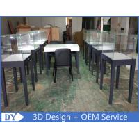 China Manufacturer supplier modern simple style wooden gray color museum exhibit cases with lights wholesale