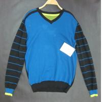 China Blue Mens Wool cotton Wool Sweaters anti-shrink for warm-keeping wholesale
