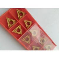 China PVD CVD Coating Indexable Carbide Inserts / Indexable Turning Inserts Yellow Color wholesale
