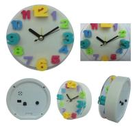China Round digital clock with glass wholesale